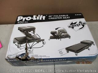 "Pro Lift 40"" foldable Creeper seat"