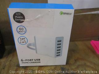6-Port USB Home Charger