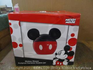 Mickey Mouse Sculpted Ceramic Cookie Jar