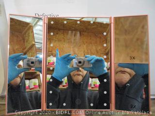 DeWeisn led lighted makeup mirror