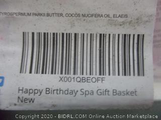 Happy Birthdat Spa Gift Basket