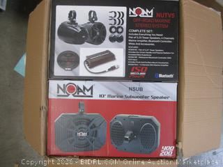 Noam Marine Bluetooth ATV/Golf Cart/UTV Speakers Stereo System (retail $709)