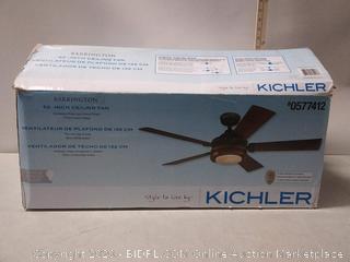 Kichler Barrington Ceiling Fan 52-in Distress Black Wood Indoor (online $229)