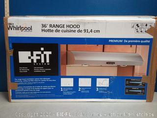 Whirlpool 36-in Convertible Stainless Steel Undercabinet Range Hood (Common: 36 Inch; Actual: 35.938-in) online $369
