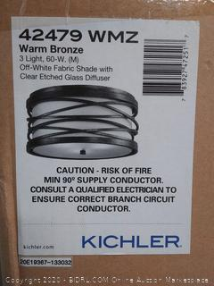 Kichler Krasi 16-in Warm Bronze Transitional Flush Mount Light (online $284)