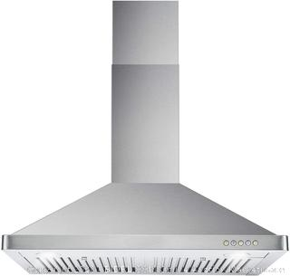 Cosmo 63175 30-in Wall-Mount Range Hood 760-CFM Ductless Convertible Duct Kitchen Chimney-Style Over Stove Vent LED Light, 3 Speed Exhaust Fan, Permanent Filter, (Stainless Steel) online $214