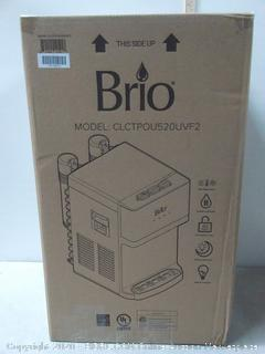 Brio Countertop Self Cleaning Bottleless Water Cooler Dispenser with Filtration - Hot Cold and Room Temperature Water (online $224)