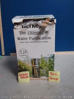 Royal Berkey Gravity-Fed Water Filter with 2 Black Berkey Purification Elements (online $305)