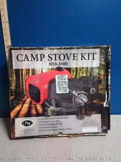 US Stove BSK1000 Barrel Camp Stove Kit, Black (online $72)