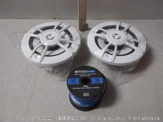 Kenwood 6.5-Inch 100 Watt Max power 2-Way Marine Speaker with 16 Guage Speaker Wire