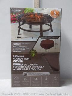 Elemental 38-In Brown Round Firepit Cover