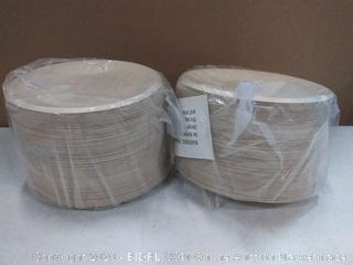 brown paper plates 2 Pack of 100 plates