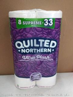 Quilted Northern Ultra plush 8 rolls of 3-ply toilet paper