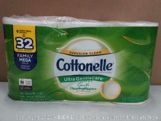 Cottonelle Ultra gentlecare toilet paper 6 rolls