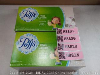 Puffs lotion tissues  2 pack