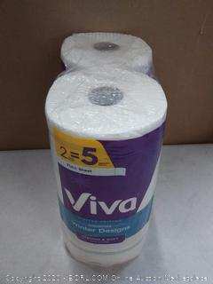 Viva limited edition signature winter designs strong and soft paper towels 2 rolls