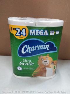 Charmin Ultra Gentle toilet paper 6 rolls 2 ply