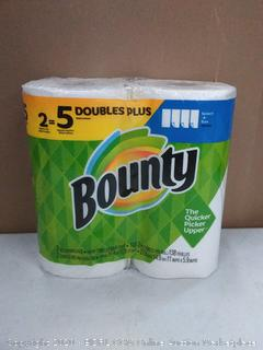 Bounty the quicker picker-upper 2 rolls of paper towels 2 ply