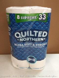 Quilted Northern Ultra Soft & strong toilet paper 8 rolls