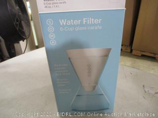 Soma- Water Filter- 6 Cup Glass Carafe
