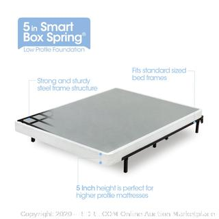 Zinus Armita 5 Inch Low Profile Smart Box Spring / Mattress Foundation / Strong Steel Structure / Easy Assembly Required, Full (online $108)