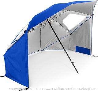 Sport-Brella Super-Brella SPF 50+ Sun and Rain Canopy Umbrella for Beach and Sports Events (8-Foot, Blue) online $37