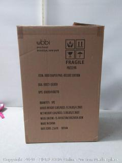Ubbi stainless steel odor locking diaper pail Chrome (online $89)