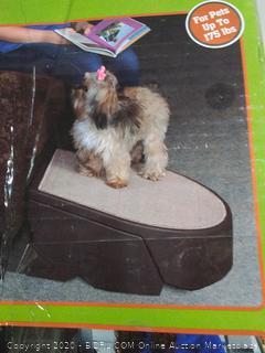 Pet Gear Stramp Stair and Ramp Combination, Extra Wide, Gentler (online $66)