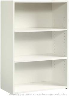 "Sauder 415541 Beginnings 3-Shelf Bookcase, L: 24.57"" x W: 11.5"" x H: 35.28"", Soft White finish"