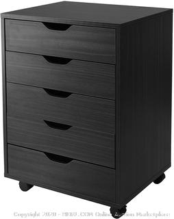 Winsome 20519 Halifax Cabinet for Closet / Office, 5 Drawers, Black
