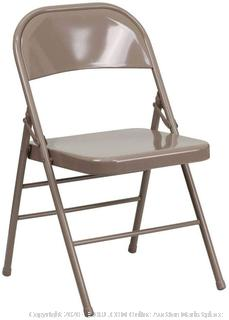 Flash Furniture 4 Pk. HERCULES Series Triple Braced & Double Hinged Beige Metal Folding Chair (online $79)