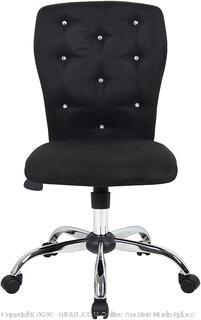 Boss Office Products Tiffany Microfiber Chair-Black B220-BK Chair