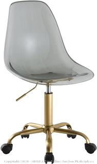 Acrylic Rolling Chair black and gold