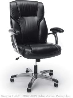 Essentials High-Back Leather Executive Office/Computer Chair with Arms - Ergonomic Swivel Chair (ESS-6030-BLK) online $183