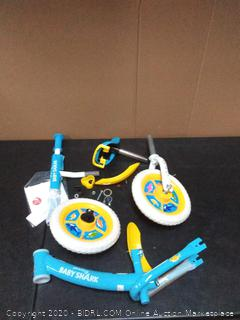 baby shark balance bike for toddlers ages 2 to 5