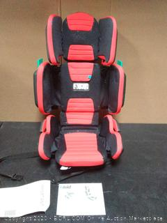 Hifold Fit-and-Fold Highback Booster Car Seat (Racing Red