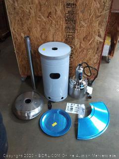 Garden Treasures 48000-BTU Stainless Steel Floorstanding has patio heater (piece is bent)