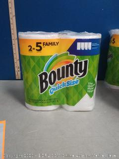 Bounty quick size 2 family rolls