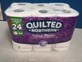 Quilted Northern Ultra Plush Toilet Paper, 48 Double Rolls, 48 = 96 Regular Rolls, 3 Ply Bath Tissue, 4 Pack of 12 Rolls