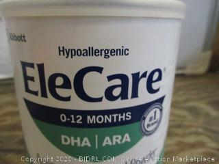 Hypoallergenic EleCare Infant Formula