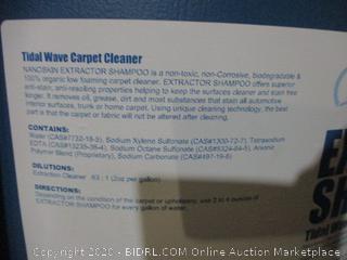 Nanoskin Extractor Shampoo Tidal Wave Carpet Cleaner