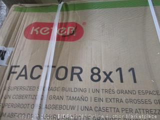 Keter Factor 8X11 Supersized Storage Building 3 boxes complete set