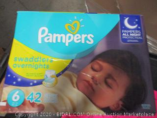 Pampers Swaddlers Overnights Size 6