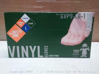 Large Vinyl Gloves (100 gloves per box)