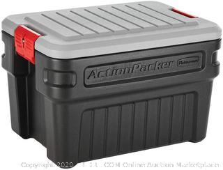 Rubbermaid ActionPacker️ 24 Gal Lockable Storage Bins Industrial, Rugged Storage Containers with Lid