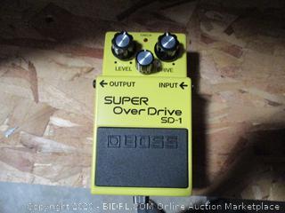 Boss SD-1 SuperOverDrive  Signal Booster