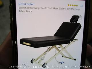 One Section Electric Lift Table/ Adjustable Back Rest Electric Lift Massage Table MSRP $1389.99