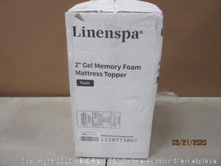"""2"""" Gel Memory Foam Mattress Topper Twin"""