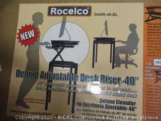 """Rocelco Deluxe Adjustable Desk Riser 40"""""""