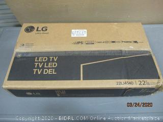 """LG LED TV  22"""" Powers on  see Pictures"""